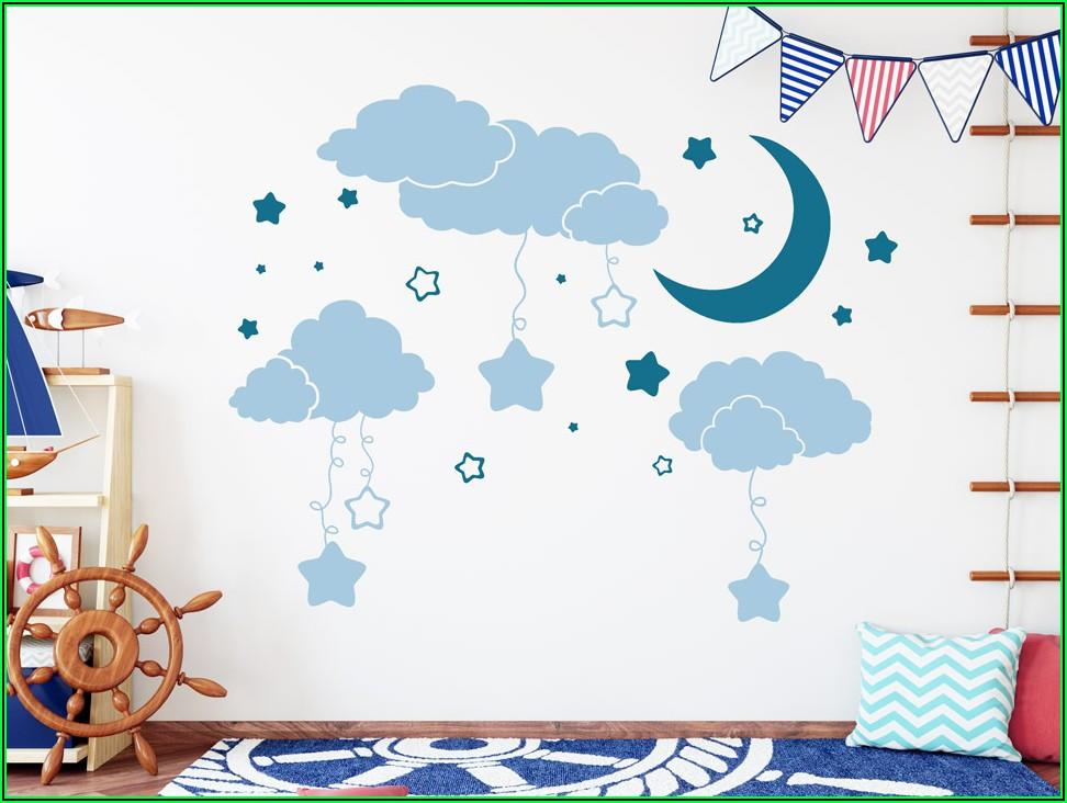 Wandtattoos Kinderzimmer Mond