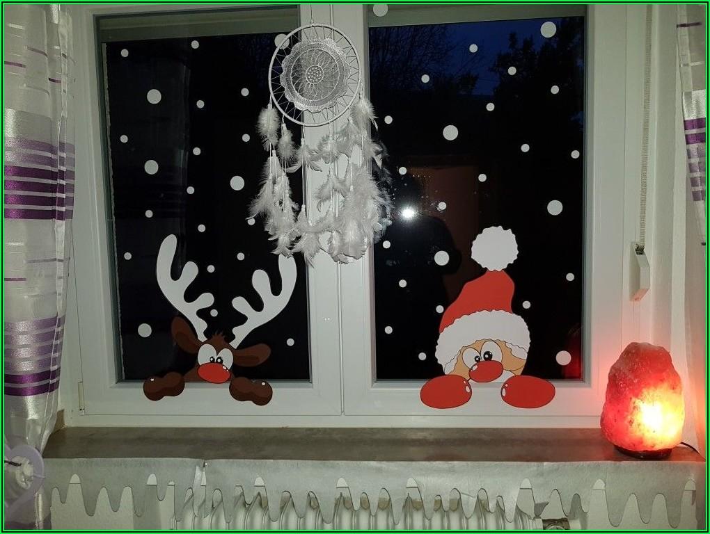Weihnachtsdeko Kinderzimmer Fenster