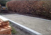 Aufbau Gartenhaus Fundament