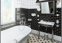 Badezimmer Fliesen Ideen Schwarzweiß