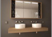 Badezimmer Spiegelschrank Mit Beleuchtung Holz