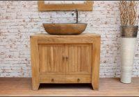 Badezimmer Unterschrank Holz Schubladen