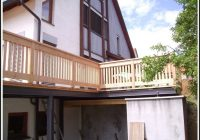 Balkon Aus Glas Und Holz