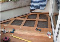 Balkon Mit Holzboden Verlegen