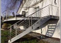 Balkon Mit Treppe In Den Garten