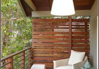 Balkon Sichtschutz Bambus Weiss