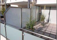 Balkon Sichtschutz Glas Alu