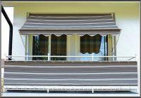 Balkon Sichtschutz Grau Meterware