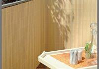 Balkon Sichtschutz Kunststoff Bambus
