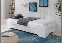 Bett 100×200 Weis Hochglanz