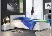 Bett 120×200 Weis Hochglanz
