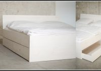 Bett 120×200 Weis Holz