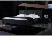 Bett 140×200 Holz Schwarz