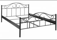 Bett 140×200 Metall Schwarz