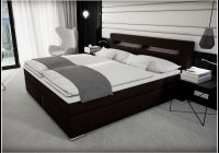 Bett 140×200 Schwarzbraun
