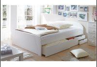 Bett 140×200 Weiß Schubladen