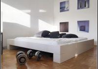 Bett 200×200 Weis Hochglanz