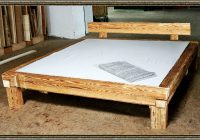 Bett Aus Holzbalken Selber Bauen