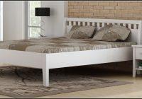 Bett Massiv 140×200 Weiss
