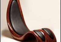 Designer Sessel Leder Holz