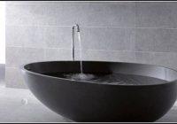Freistehende Badewanne Mineralguss 160