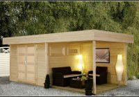 Gartenhaus Flachdach Holz