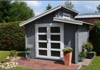 Gartenhaus Mit Pultdach Und Terrasse
