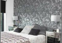 Graue Wand Figuren Schlafzimmer