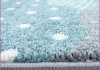 Kinderteppich Blau Grau