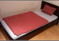 Malm Bett Schwarz 90×200