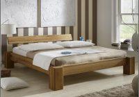 Massivholz Bett Eiche 140×200