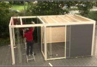 Montage Gartenhaus Video