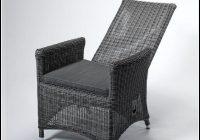 Polyrattan Sessel Verstellbar Grau