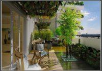 Sichtschutz Balkon Bambus Weiss