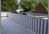 Sichtschutz Balkon Stoff Grau