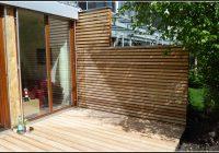 Sichtschutz Terrasse Holz Grau