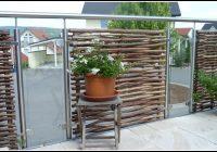 sichtschutz terrasse holz und glas