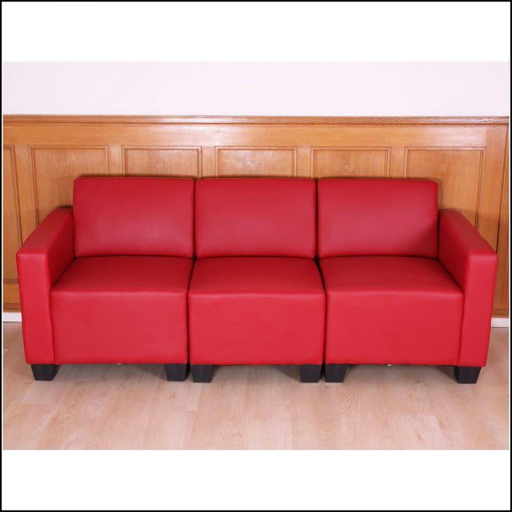Permalink to Sofa 3 Sitzer Rot