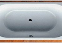 Stahl Badewanne 180×80 Mittelablauf