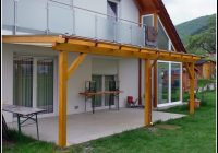 Terrassenüberdachung Holz Glasdach