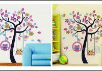 Wandtattoo Baum Kinderzimmer Eule