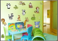 Wandtattoo Kinderzimmer Tiere Set