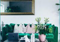 Wohnzimmer Ideen Grünes Sofa